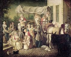 The Arrival of the Wet Nurses by Etienne Jeaurat