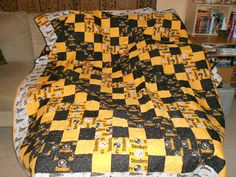 Quilt With Steeler Fabric Pittsburgh Steelers Handmade