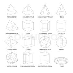 Image result for basic 3d shapes