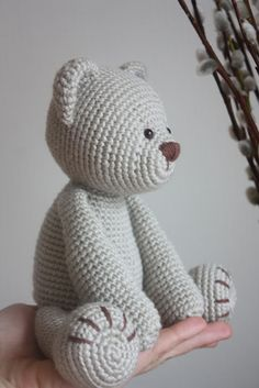 Amigurumi creations by Laura: New Teddy Bear PDF Pattern Yes. Amigurumi creations by Laura: New Teddy Bear PDF Pattern Yes. Crochet Diy, Crochet Gratis, Crochet Patterns Amigurumi, Crochet Dolls, Crochet Stitches, Crocheted Toys, Simple Crochet, Crochet Bunny, Crochet Bear Patterns