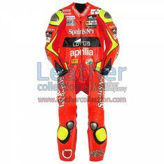 Jorge Lorenzo Aprilia GP 2006 Leathers for $629.30 - https://www.leathercollection.com/en-we/jorge-lorenzo-aprilia-2006-leathers.html