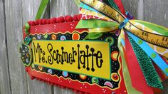 Teacher Name Sign Personalized by SunshineSignDesigns on Etsy