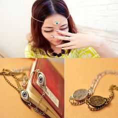Fashion Evil Eye Pendant Necklace Chain Scary Evil Punk Horror Necklace Funny
