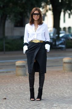Christine Centenera. chanel thigh high stirrup leggings. balmain boots.