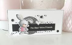 Zwart-wit ik blijf dit een mooie combinatie vinden!            Deze combi, samen met het super schattige konijntje van MFT ,   heef...
