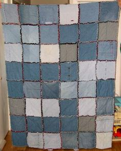 Recycled denim blanket