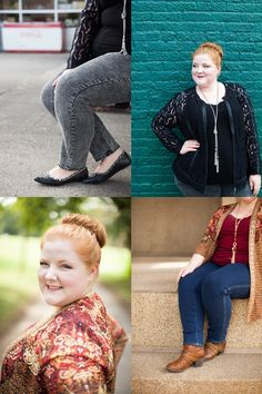 Finding the Perfect Jeans with Catherines. Liz reviews the new True Stretch Jean and Knit Jean from Catherines and models their fall styles in a lookbook shot around Nashville. Photos by Kate Davis Photography. #catherines #truestretchjean #knitjean #plussizefashion #plussizeclothing #nashvilleblogger #psootd #ootd #outfit