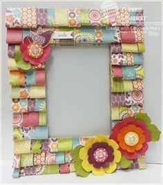 Ruffled Paper Frame FREE TUTORIAL!
