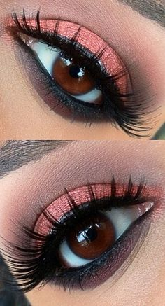 coral for brown eyes