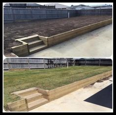 Step Up To This Raised Lawn Garden Made With Treated Pine Wood Sleepers