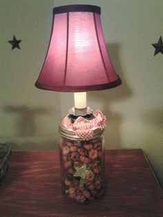 DIY Mason jar lamp...easy to make