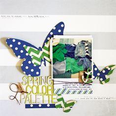 Spring Color Palette *cocoa daisy* - Scrapbook.com