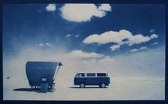 VW camper vans: VW camper van on sand