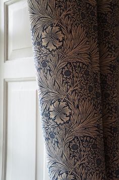 Lovely William Morris curtains at Mompesson House, Salisbury