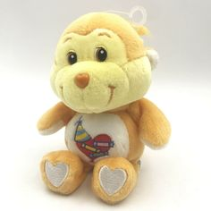 Care Bears Cousins Playful Heart Monkey 20th Anniversary Plush Stuffed Animal #CareBears #AllOccasion Orange Country, Bear Character, Care Bears, 20th Anniversary, Cousins, Monkey, Plush, Teddy Bear, Valance