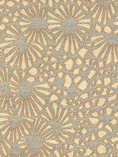 Calvin Fabrics - KIKU - MIST - frosted teal & cream graphic Japanese chrysanthemum design woven in the USA - contract rating WYZENBEEK: 30,000