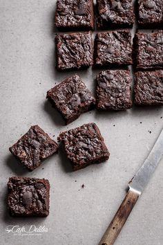 Low Carb Zucchini Brownies | http://cafedelites.com