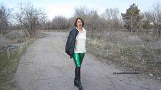 Elena - Overknee-Stiefel extravagant und Leggings (platformed boots) - #...