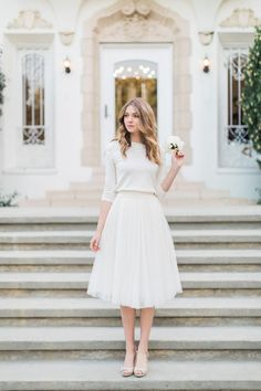 Výsledek obrázku pro taffeta midi skirt and top wedding