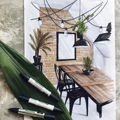 The interior drawing course has 20 lessons online Croquis Architecture, Interior Architecture Drawing, Interior Design Renderings, Drawing Interior, Grey Interior Design, Interior Rendering, Interior Sketch, Architecture Design, Interior Shop