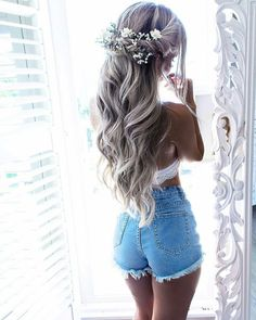 35 wedding hair accessories you can frisuren haare hair hair long hair short Wedding Hairstyles For Long Hair, Wedding Hair And Makeup, Wedding Hair Accessories, Bride Hairstyles, Pretty Hairstyles, Bridal Hair, Hippie Wedding Hair, Hair Wedding, Wedding Shoes