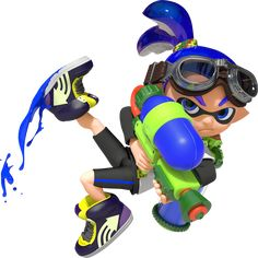 Splatter enemies and claim your turf as an ink-blasting Inkling in Nintendo's ultimate mess-fest!