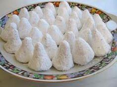"""- """"Amigdalota"""", almonds sweet from Sifnos island - Category: Mediterranean Diet, Sifnos Recipe. Greek Sweets, Greek Desserts, Almond Recipes, Greek Recipes, Cooking Bread, Cooking Recipes, Greek Cookies, Almond Cookies, Greek Pastries"""