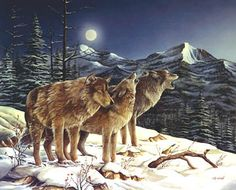 Wolf art, wolves, wildlife art by painter and designer Thomas Wood.