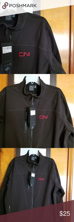 Men's Windbreaker Railroader Jacket NWT, smoke free home. This jacket is warm and cozy.  Has zip front, pockets and is lined. The outer shell is a sturdy but comfortable fabric.  Has the Canadian National Railroad logo. Stormcaster Jackets & Coats
