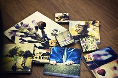 Photo Transfer to Tiles.  Put your photos onto tiles and make wall art, drink coasters, or fridge magnets http://merrybrides.tumblr.com/post/33908865237/diy-how-to-transfer-your-photos-to-tiles