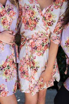 lilac bridesmaid robes - 640×960