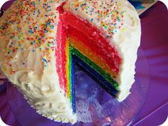 rainbow cake... happy happy