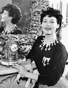 Ava Gardner in between filming The Barefoot Contessa, 1953