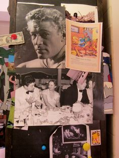 Where Joan Juliet Buck Binge-Watches Netflix. There are fascinating photographs everywhere; I found this collage on the side of a bookshelf. The black-and-white dinner-party scene features Orson Welles (at left), an unidentified woman, Charles Laughton, and Mary Pickford.