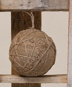 Love this Burlap & Mica Twine Ball Ornament - Set of Three on #zulily! #zulilyfinds