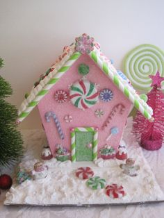 Gingerbread/ candy land house. by WandasWorkshop on Etsy