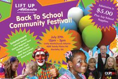 Events We Love: Lift Up Atlanta Back To School Community Festival And School Supply Drive | The Bluebird Patch (Happiness Blog)