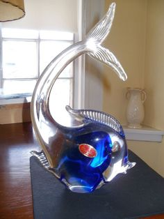 Vintage Murano Glass Made in Italy Angel Fish