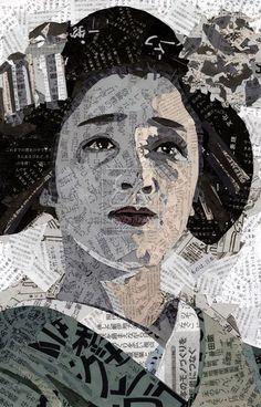 Exclusive Collage Portrait Art Works (14)