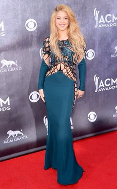 Long sleeve Blue green Gown black lace