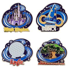 Walt Disney World Pin Set - 4-Pc