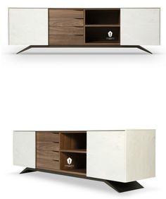 Lingerie Dresser, Buffet, Tv Cabinets, Sideboard, Modern Decor, Shelving, Furniture Design, Living Room, Interior Design