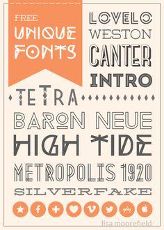 10 Free Unique Fonts | Lisa Moorefield