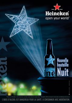 Heineken - Bouteille Nuit Saga, Darth Vader, France, Prints, Fictional Characters, Heineken, Alcohol, Bottle, Night