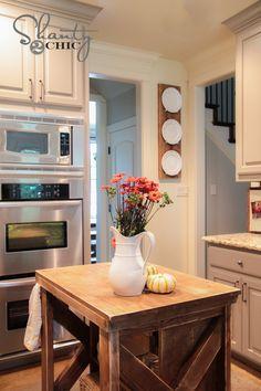 Kitchen Plate Rack DIY - Shanty 2 Chic....love it!