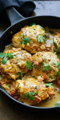 Mustard Chicken - the best mustard chicken recipe by David Lebovitz. Rich and crazy delicious mustard sauce with bacon and chicken thighs. Skip the bacon. Healthy Recipes, New Recipes, Cooking Recipes, Favorite Recipes, Online Recipes, Yogurt Recipes, Delicious Recipes, Chicken Thights Recipes, Keto Chicken Thigh Recipes