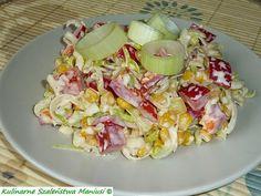 Sałatka z papryki i pora Appetizer Salads, Appetizers, Cooking Recipes, Healthy Recipes, Polish Recipes, Tzatziki, Pasta Salad, Potato Salad, Veggies