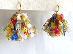〜dress〜 夏色|イヤリング|ハンドメイド通販・販売のCreema Tassel Jewelry, Fabric Jewelry, Statement Jewelry, Jewelry Art, Jewellery, Make Your Own Jewelry, Jewelry Making, Love Sparkle, Crochet Bracelet