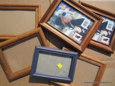 turn thrift store frames and burlap into collage wall art, crafts, home decor, repurposing upcycling, Goodwill frames Picture Frame Crafts, Love Frames, Collage Picture Frames, Wall Collage, Wall Art, Decorate Picture Frames, Homemade Picture Frames, Frames Ideas, Picture Wall