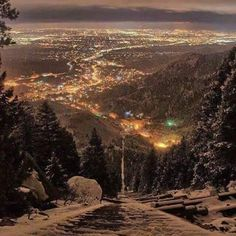 View of Colorado Springs from Mount Manitou 11Nov15